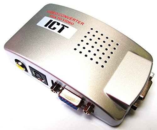 ICT Convertitore Video da Pc a TV, Convertitore da VGA a RCA, VGA to RCA Video Converter