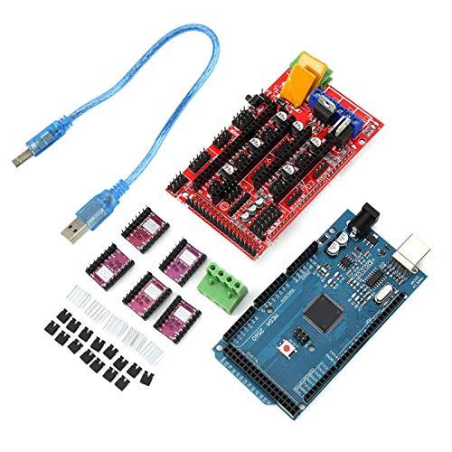 Conjunto de controladores de motor paso a paso controlador 3D impresora disipador de calor 8825 RAMPS 1.4 tablero de control CH340 para reprap para Mega 2560