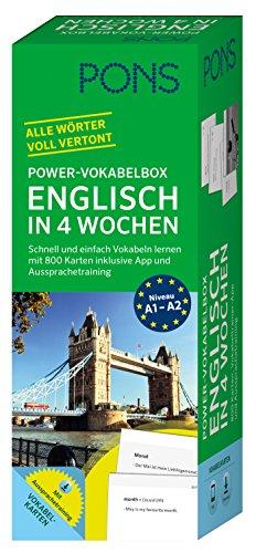 bester der welt PONS Power Vocabulary Box Englisch in 4 Wochen – Lernen Sie den Wortschatz schnell und einfach mit 800 Lernkarten… 2021