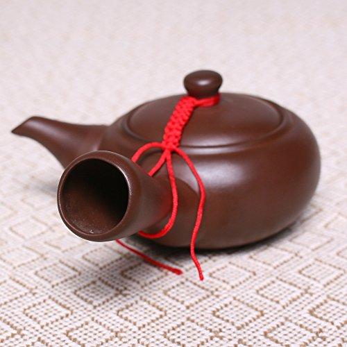 mangege Teekanne Tee-Set Chinesische Zisha Yixing Lila Ton Kongfu Muster Keramik Gesundheit Infuser Handgemachte Farbe Keramik Ton Teekanne 150 ml