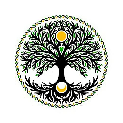 Temporary Tattoos 6 Sheets Celtic Tree of Life with Sun and Moon Tattoo Stickers for Adult Kids Women Men Arms Legs Chest Waist Neck 3.7 X 3.7 Inch Tree Tattoo
