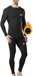 MEETWEE Thermal Underwear for Men, Winter Base Layer Set Tops & Long Johns Compression Wintergear for Heat Retention