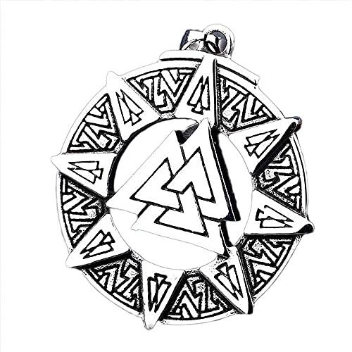 AMOZ Jynqr Mitología Nórdica Dios Odin Amuleto Colgante Joyería de Acero de Titanio Colgante Estilo Punk Collar de Cuero Genuino Joyas Hombres 's Y Mujeres' S Moda Pagan Viking Totem