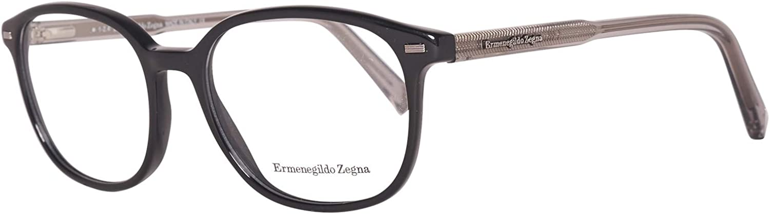ERMENEGILDO ZEGNA EZ5007001 ACETATE EYEGLASS FRAME Black, Grey 51MM