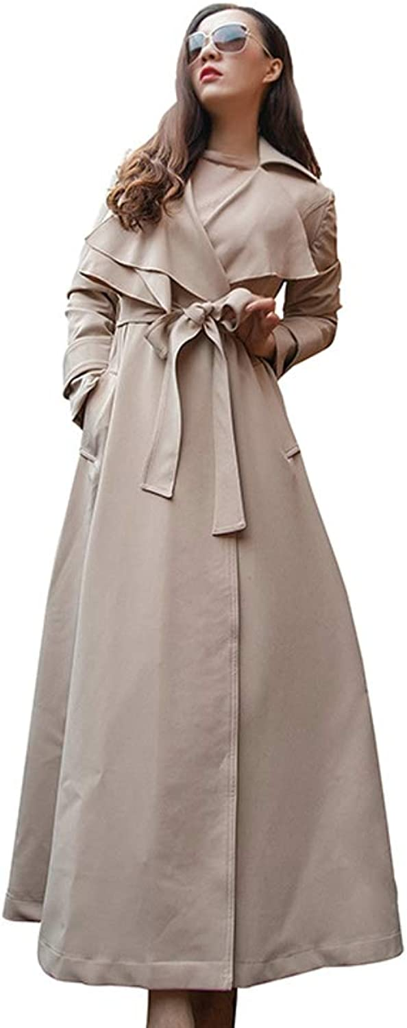LHHJ Coat Chemical Fiber Blend Long Sleeve Splicing Beige Women's Jacket