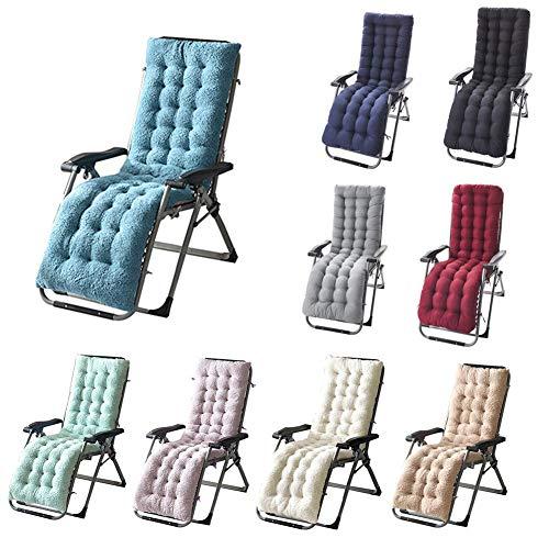 Cojín para silla de jardín, reclinable, cojín para sofá, alfombrilla de tatami, alfombrilla para ventana, muebles de terraza 160 * 50 * 12 Creamy-white
