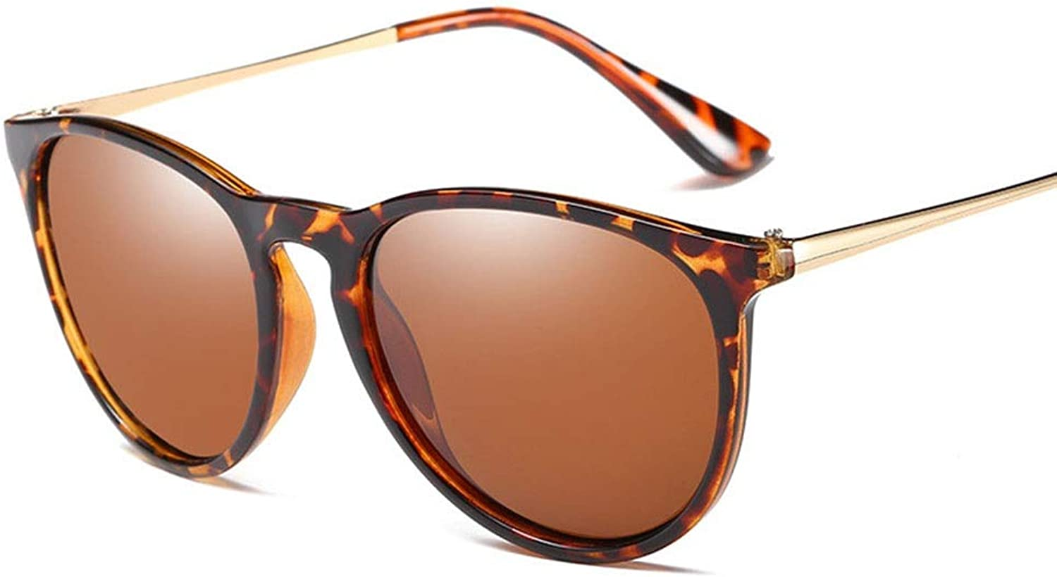 Women's Vintage Fashion Polarized Sunglasses for Beach, Travel,Driving (color   Leopard Brown)