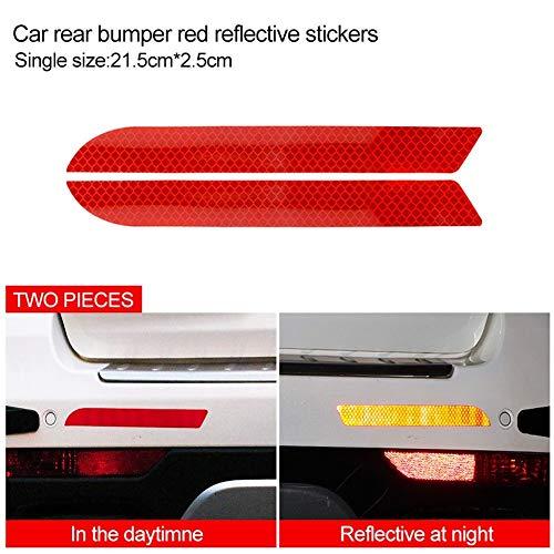 Sicherheitswarnung Auto-Reflektor-Streifen Aufkleber Schützen Kollision Scratches.Car Styling-Zubehör verwendet werden, um Unfälle zu reduzieren.Haltbar und wasserdicht Reflektierendes Warnband