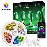 Lumary RGBWW LED Stripe Alexa 2M,Smart Wi-Fi LED Streifen Dimmbar Farbig Lichterkette,Heller RGB...
