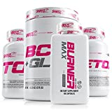 SHREDZ 30 Day Weight Loss Results Supplements Stack for Women, Clinically Tested Ingredients, Burner MAX, Detox, Toner, BCAA + Glutamine (Pink Lemonade)