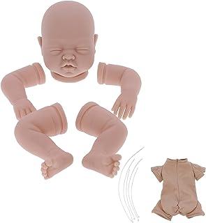 Jiawu Kits de poupée Reborn Non Peints de 22 Pouces, poupée Vierge Bricolage Reborn pour Tout-Petit avec Corps en Tissu Me...