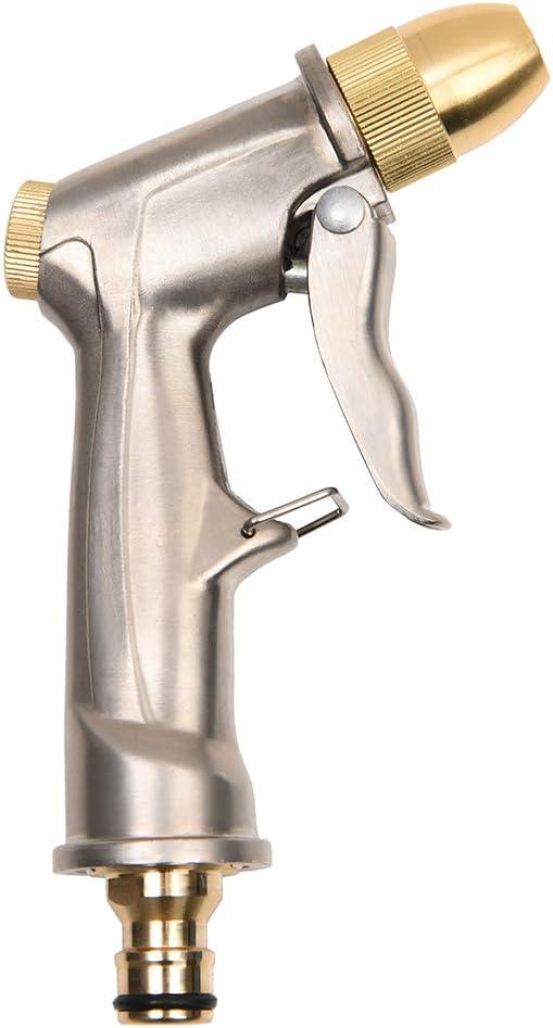 Pistola Rociadora de Manguera,Pistola de Agua de Metal Resistente,Rociador de Manguera de Jardín de Alta Presión,Boquilla Ajustable de Agua,Pistola Rociadora para Lavado de Autos/Riego de Jardín