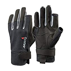 Musto 2018 Essential Segelhandschuhe Sailing Long Finger Gloves Black AUGL002 Size - - Small