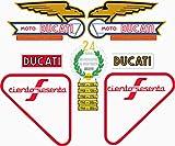 Kit de adhesivos motos clasicas Ducati 160 Sport - Juego Pegatinas Completo - Vinilo para Moto, máxima Calidad.