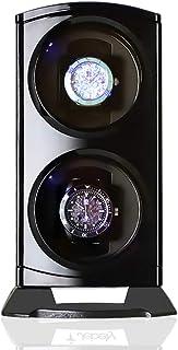 二重自動腕時計の巻取り機、縦のタワーの腕時計の回転子の陳列ケースは2つの腕時計のギフトを握ります