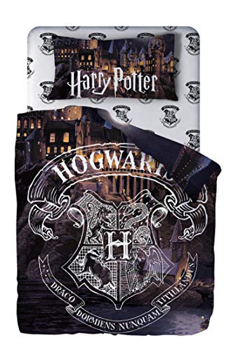 Harry Potter Juego de Sábana, Funda de Almohada y Sábana Bajera Algodón