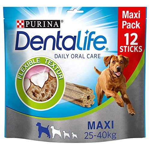 Purina Dentalife - Snack per l'igiene dentale per cani di piccola e grande taglia, riduce la formazione di tartaro
