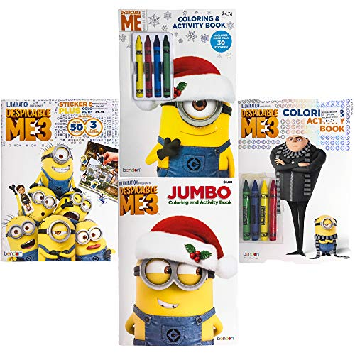 Bendon Kids Children Nickelodeon Disney Assorted Characters Theme Coloring & Activity Books (Minions)