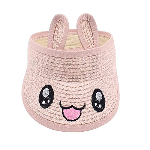 Amorar Niño Viseras Sombrero de Paja Niña Gorra de Béisbol Lindo Orejas de Conejo Sombrero para el Sol