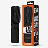 Beard Straightener for Men, 2 in 1 for Beard & Hair- Anti-Scalding, Ionic Technology, 3 Temperature Settings - Patented Design, Cutting Edge Beard Straightener Comb - Wild Willies