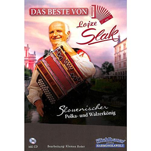 Das Beste von Lojze Slak für diatonische Handharmonika in Griffschrift - Songbook mit CD