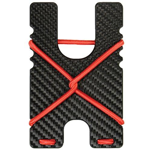 Kydex Shock Wallet (Black Carbon Fiber with Red Cord) by Violent Little Machine Shop