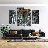 KOPASD 4 Piezas Modernos Mural Bosque Encantado Cuadro en Lienzo,impresión artística,único,Pasillo Decor Pared Cuadro Carteles Innovador