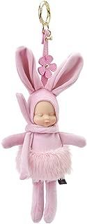 Memeda Keychain Cute Charm Girl Lady Plush Cartoon Bag Pendant Decoration Birthday May-pink rabbit