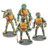 FURUN Teenage Mutant Ninja Turtle Figuras Juego de 4 Piezas Modelo De Personaje de Anime Juguetes Tortugas Ninja Figuras de Acción Conjuntos de Regalo Y Colección para Fanáticos 18cm