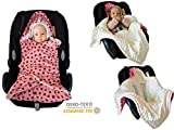 SWADDYL Baby Girl Swaddle Blanket I car seat I Stroller I Hooded...
