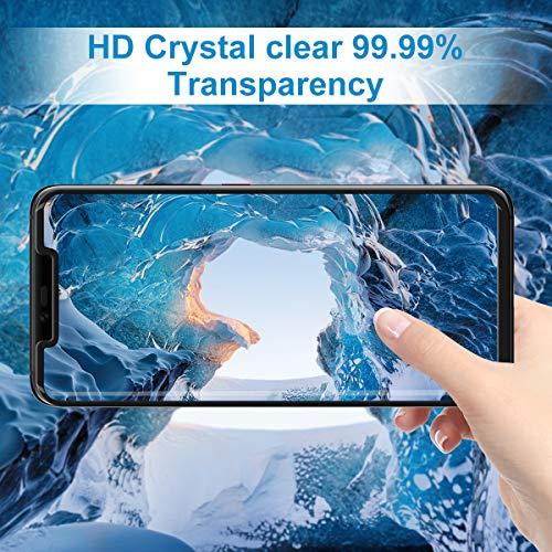 CRXOOX Panzerglas Schutzfolie für Huawei Mate 20 Pro Panzerglasfolie 2 Stück mit Fingerabdrucksensor - 9H Härte Glas Folie, Anti Fingerprint 3D Curved Ultra Dünn HD Case Friendly Displayschutzfolie - 3