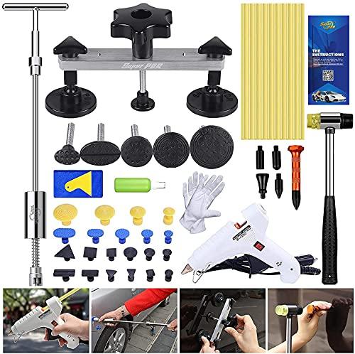 PDR Kit Riparazione Ammaccature Auto, Strumenti di Riparazione Ammaccature Senza Vernice, Set Estrattore Ammaccatura