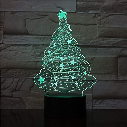 3D LED Christmas Tree Table Lamp USB Powered Night Light Desk lampe for Home Party Cafe Office Restaurant Lightings 3204