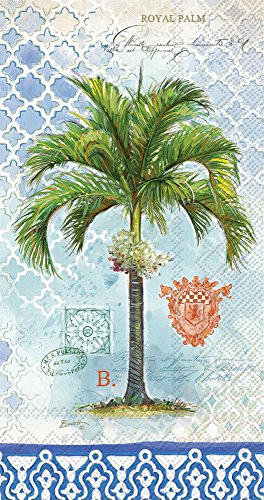 Celebrate the Home Vintage Tropical 3-Ply Paper Guest/Buffet Napkins, Royal Palm, 20-Count