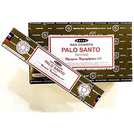 Nag Champa Palo Santo - Varillas de incienso para meditación e iluminación (12 paquetes de 15 grm)