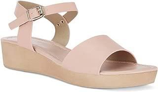 Ceriz Women's Colette Nude Wedge Sandals