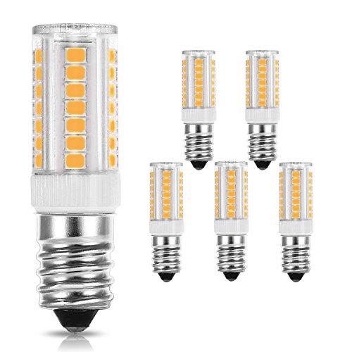 LOHAS E14 LED Lampe, 5W Ersatzfür40WHalogenlampen, Warmweiß 3000K, 400LM, LED Birnen, LED Leuchtmittel, Kühlschrank, Kronleuchter, Stehlampe, Tischleuchte, 5er-Pack