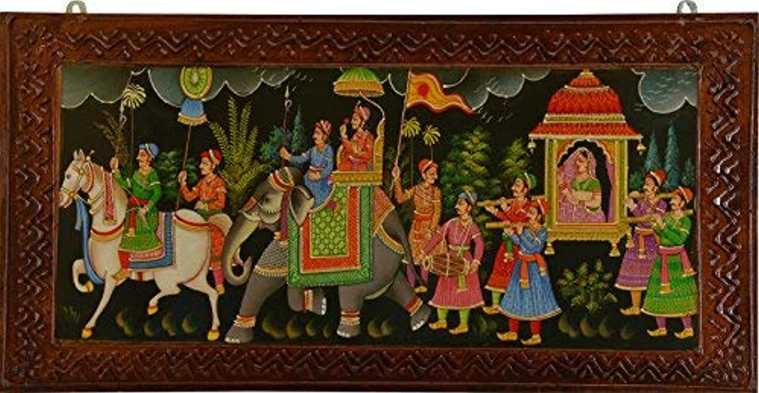 Alian Indian Traditional Oil Painting Standard Multi color