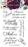 """Colorado Craft Company Clear Stamps 4""""X6""""-Friendship Greetings-Savvy Sentiments"""