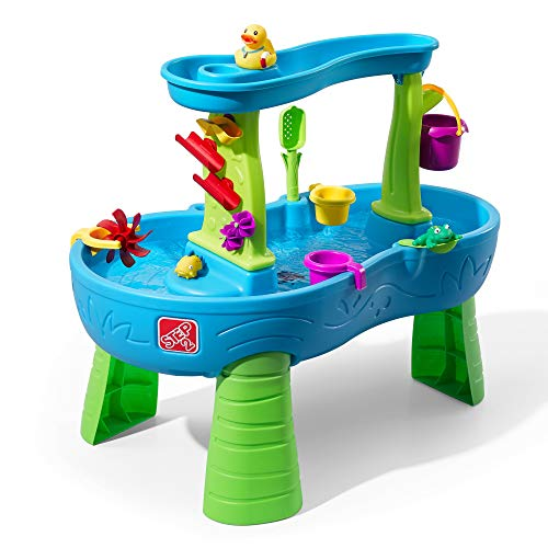 Step2 Rain Showers Splash Pond Water Table | Kids Water Play Table with 13-Pc Accessory Set
