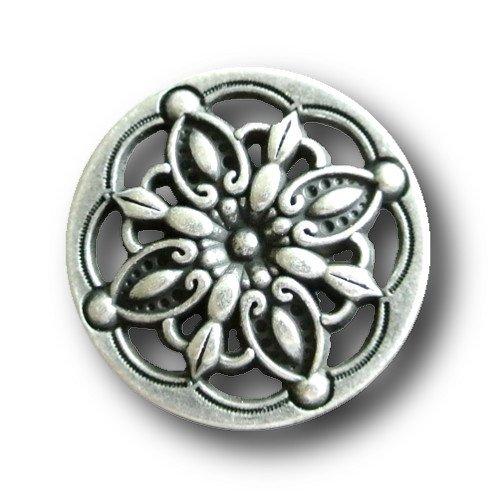 15 mm hellblau /& lila//Metall///Ø ca rosa Knopfparadies 5er Set m/ärchenhaft changierende Kn/öpfe//silber