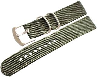 Hemobllo Cinturino in Nylon Cinturino per Orologio Cinturino in Tela per Uomo (Marrone 18mm)