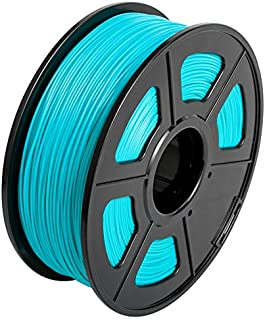 CC DIY - PLA+ 3D Printer Filament 1.75mm 1kg Spool Dimensional Accuracy +/- 0.02 mm (Cyan)