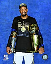 Kevin Durant Golden State Warriors 2018 Championship & MVP Trophy Photo (Size: 8