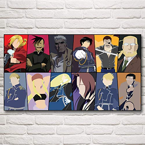 N / A Pittura Senza Cornice Cartoon Art Pittura a Olio Reale Poster Decorazione della casa44X80cm