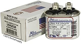 (2) Pack - Payne P291-0403 - 4 uf/Mfd 370/440 VAC AmRad Replacement Oval Universal Capacitor - Made in The U.S.A.