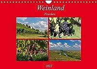 Weinland Franken (Wandkalender 2022 DIN A4 quer): Das Fraenkische Weinland liegt am Maindreieck - umrahmt vom Spessart, der Rhoen, dem Steigerwald und dem lieblichen Taubertal. (Monatskalender, 14 Seiten )