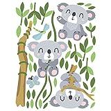 Bilderwelten Kinderzimmer Wandtattoo Tiere Baum Koala Bären Set, 120cm x 90cm