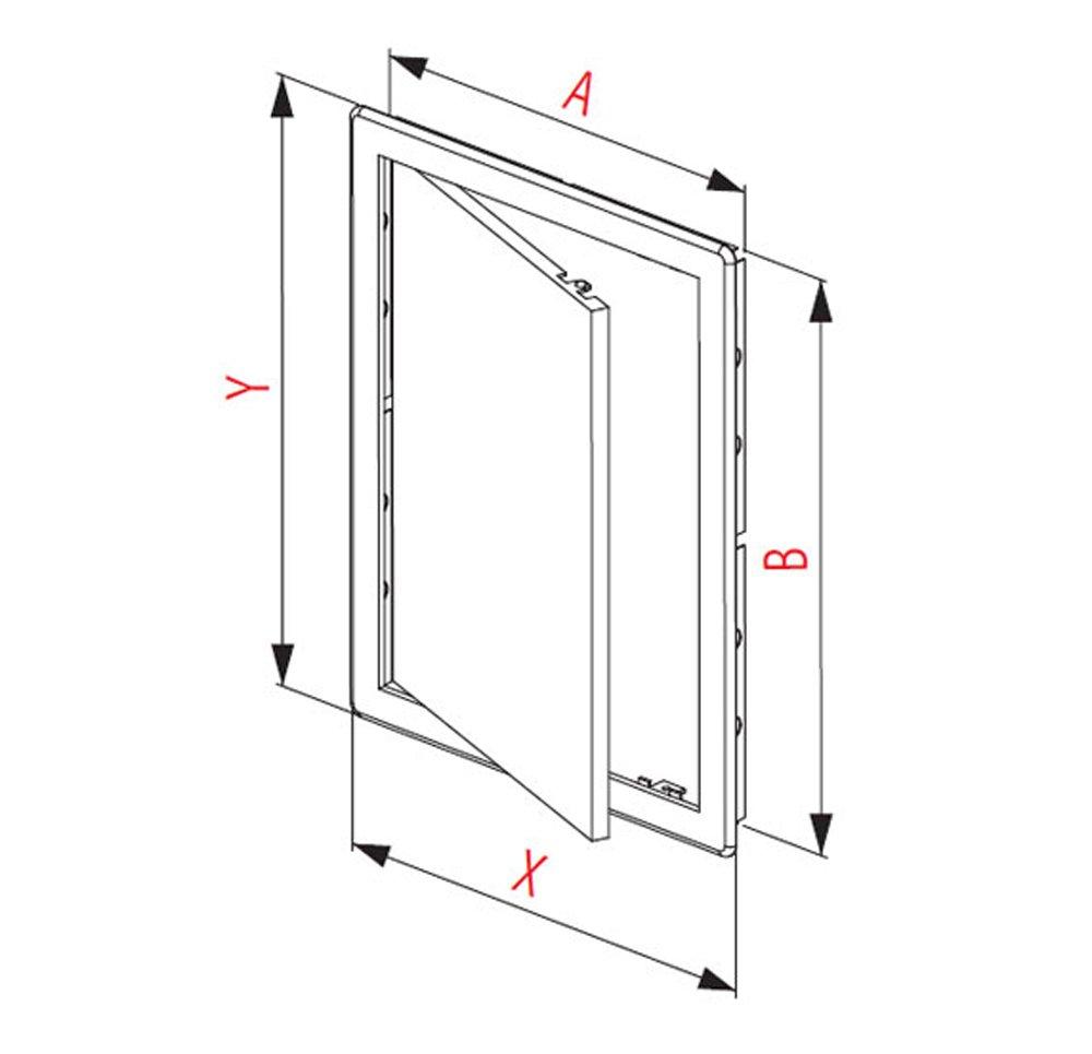 Puerta de plástico de fácil acceso, color blanco (150 x 150 mm ...