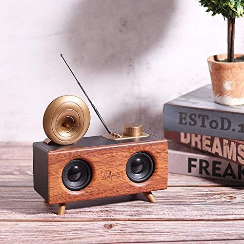 Mnjin Inalámbrico Bluetooth Estéreo Bluetooth Altavoz Teléfono Retro Radio Ideas de Regalos creativos Pequeños Altavoces Adornos